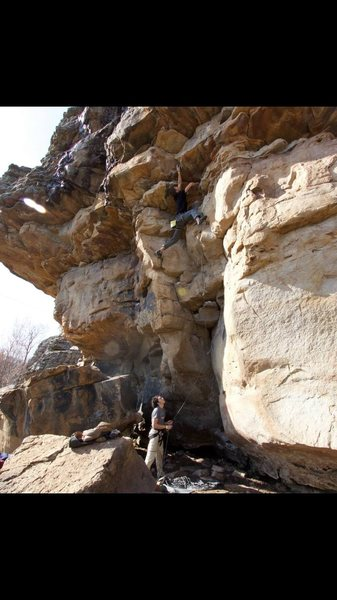 Rock Climbing Photo: Finishing off the dihedral