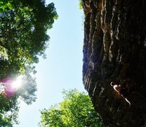 Rock Climbing Photo: Girls Gone Wild...WOO!  Shady Grove, Red River Gor...