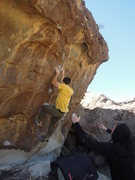Rock Climbing Photo: Opening moves on Double Vision