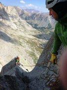 Rock Climbing Photo: Approaching the chimney