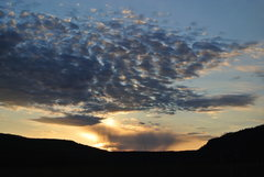 Rock Climbing Photo: Sunset over Rozno's on the drive home 3-21-15.