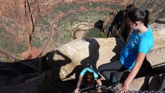 Rock Climbing Photo: The girls at Angel's Landing Zion. Spring Break 20...