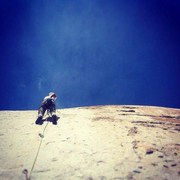 Rob O. Leading his way up a climb on the Elvis wall at squarenail