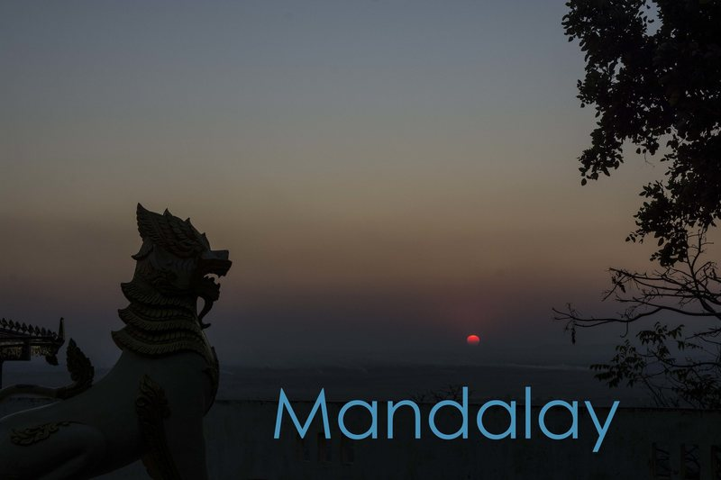 Rock Climbing Photo: Mandalay Sunset From Waterfall Hill