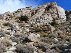 Rock Climbing Photo: Approaching the Tear Drop, Lone Mountain