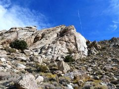 Rock Climbing Photo: Looking up at the Tear Drop, Lone Mountain