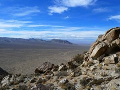 Rock Climbing Photo: The views here are far-reaching, Lone Mountain