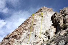 Rock Climbing Photo: East face of the Tear Drop, Lone Mountain  A. My B...