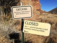 "Rock Climbing Photo: ""The main reason for the seasonal closure on the ..."