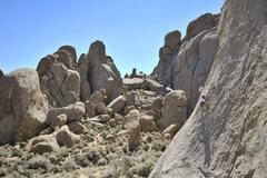 Rock Climbing Photo: Eight-year-old Bryson Fienup climbs Rotten Bananas...