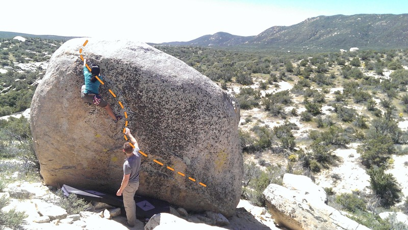 Rock Climbing Photo: Finishing through the pristine thin fingers crack ...