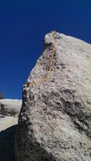 Rock Climbing Photo: the nice pocketed slab on the west face which is f...