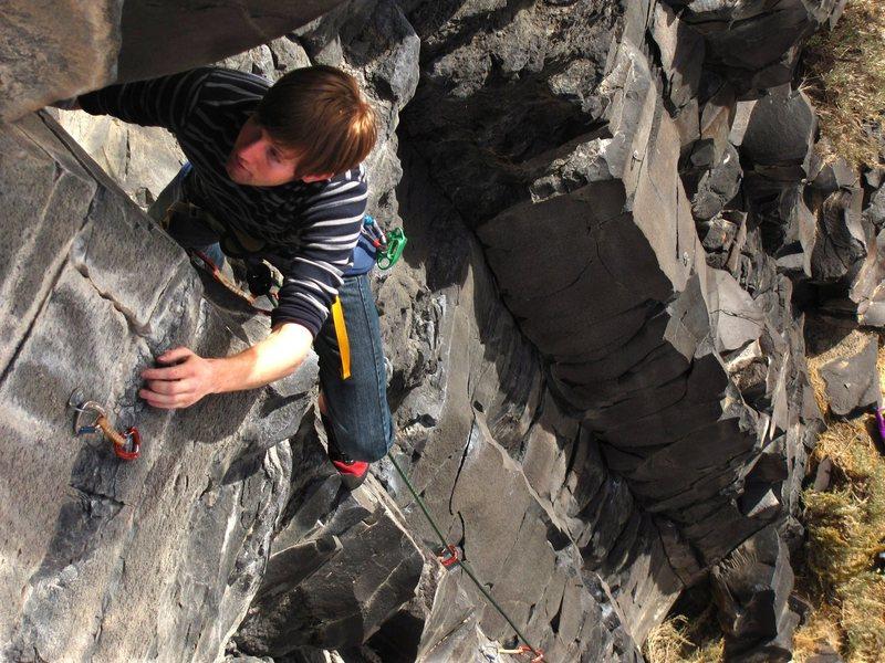 Rock Climbing Photo: Idaho basalt