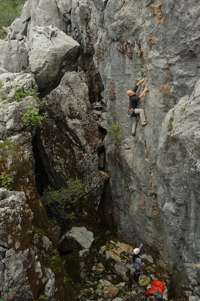 Rock Climbing Photo: shredding and swallow - louie