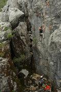 Rock Climbing Photo: shredding and swallow - louie