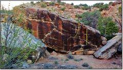 Rock Climbing Photo: Horn of Erebor problem beta in yellow.