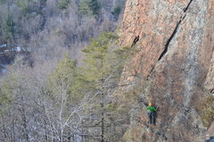 Rock Climbing Photo: Yours truly, looking up at Locomotive breath...