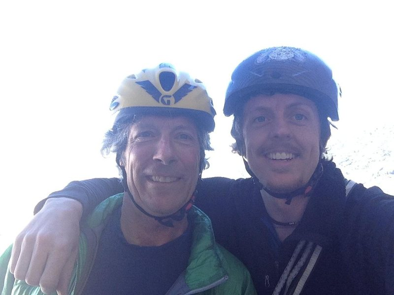 The great Charlie Sturgis and I at the base