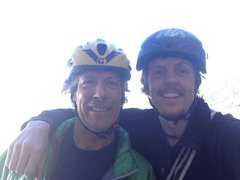 Rock Climbing Photo: The great Charlie Sturgis and I at the base