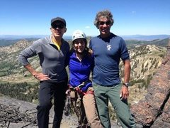 Rock Climbing Photo: Great day on 'Black Streak' with Peter Metcalf, Jo...