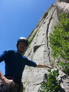 Rock Climbing Photo: The start. Be careful with the approach- sketchbal...