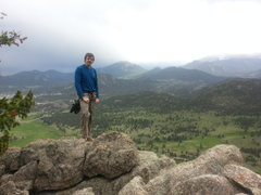 Rock Climbing Photo: Summit of 'Pear Buttress' with a storm in the dist...
