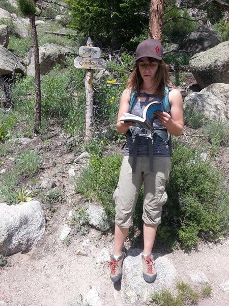 Rock Climbing Photo: Free Hackattack advice: rock a guidebook or else y...
