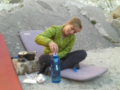 Rock Climbing Photo: She insists on using a rod of plutonium to purify ...
