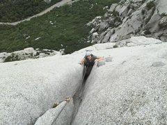 Rock Climbing Photo: Trough love