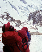Rock Climbing Photo: At the top of the couloir