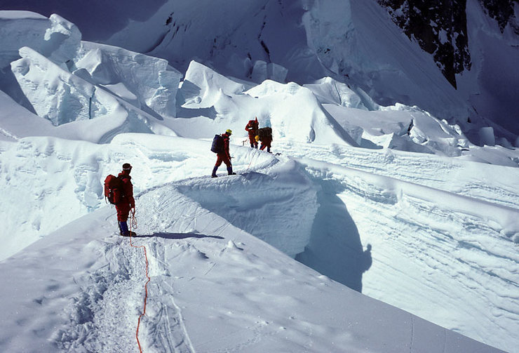 Rock Climbing Photo: In the NE Fork icefall