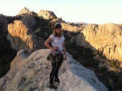 Rock Climbing Photo: Batgirl atop Batwings!
