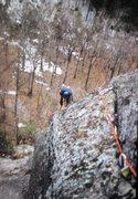 Rock Climbing Photo: Hugh Thompson on FA The Prow. 1972