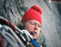 Rock Climbing Photo: Mike Peloquin on the Bivy Ledge FA Labyrinth Wall ...