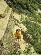 Rock Climbing Photo: Tana Cathcart on Cannon Cliff