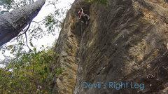 Rock Climbing Photo: Devil's Right Leg