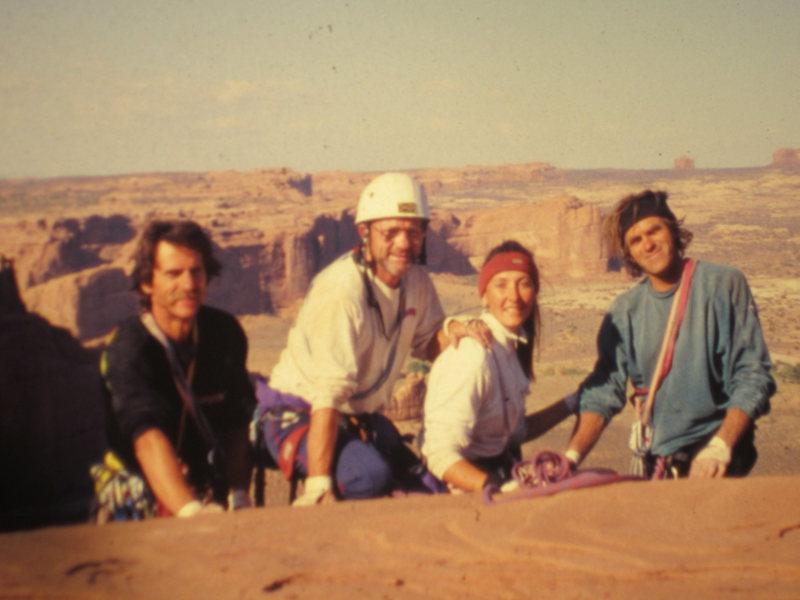 Rock Climbing Photo: Full Team 2001 Mr and Mrs Dunn .. Chamonix Guide ....