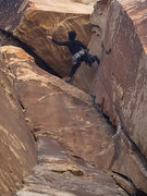 Rock Climbing Photo: Incredibly fun route; figuring out the best way to...