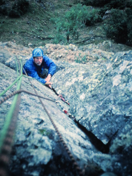 Rock Climbing Photo: Pete Armstrong on P1