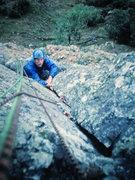 Rock Climbing Photo: Pete Armstrong on P1