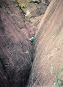 Rock Climbing Photo: Marea coming up the Great Corner FA