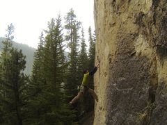 Rock Climbing Photo: Stakes Are High and So Am I, 5.11b/c