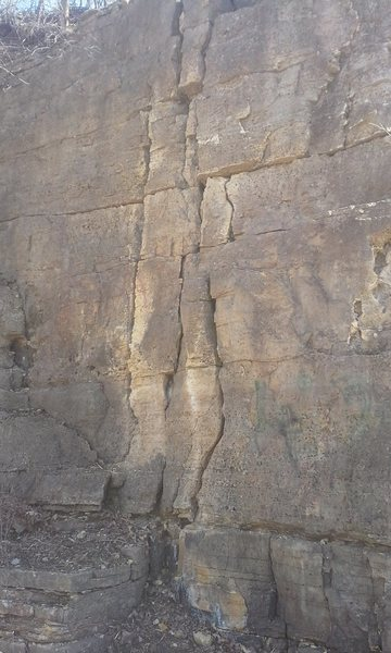 Rock Climbing Photo: the two cracks provide more than enough hold to th...
