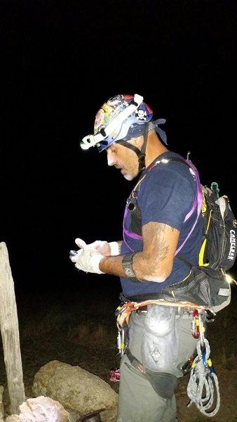 Rock Climbing Photo: Night summit awesome !!!