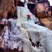 Rock Climbing Photo: First time ice climbing; Hidden Valley Falls, RMNP