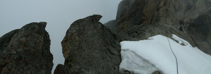 Nearing the summit of the North Face Standard Route!