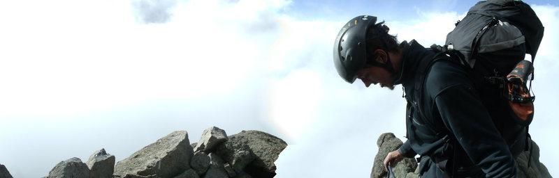 The summit of Mt. Kenya