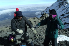 Rock Climbing Photo: Victory dancing atop the Western Breach/Crater Rim...