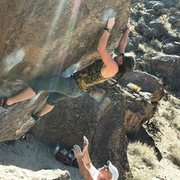 Rock Climbing Photo: Carrot Top, V3, Happies, Bishop