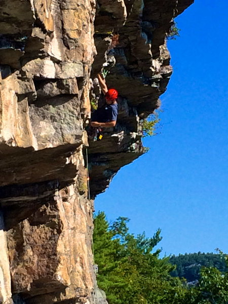Rock Climbing Photo: Falled on Account of Strain.. My first Gunks 5.10 ...